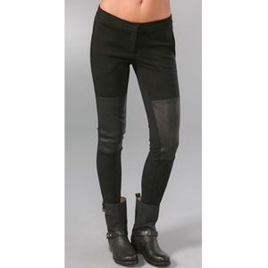 Theory Tinysa Leather Knee Patch Zip Fly Legging 2